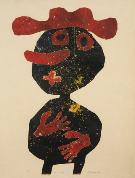 <strong>Jean Dubuffet</strong> <br><em>Nez Carotte</em>, 1962 <br>Lithograph <br>25 ¾ x 19 ¾ in <br> (65.5o x 50cm)