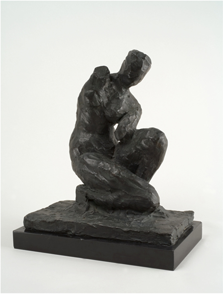 <strong>Henri Matisse</strong>, <em>Venus accroupie</em> ca. 1918<br>Bronze<br>10 ½ x 9 ¼ x 4 15/16 in <br> (26.5 x 23.5 x 12.5 cm)